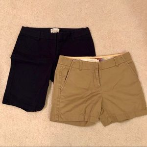 🌴 J.CREW SET OF TWO SIZE 4 CHINO SHORTS